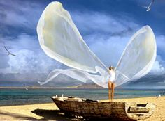Sea Angel Wallpaper Probably i need to fly again Surrealism Photography, Art Photography, Fashion Photography, Good Morning My Angel, Image F, Image Search, Angel Wallpaper, Great Love, Beautiful Artwork