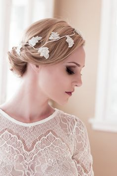 SALE Handwired Beaded Bridal Gold or Ivory shown by veiledbeauty, $89.00