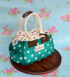Teal handbag cake