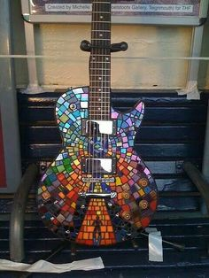 Very cool mosaic guitar