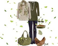 "Dressing Your Truth Type 2 | Dressing Your Truth: Type 2 / ""Forest Green"" by jenniemitchell ..."