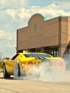 Ford Gt Smoking Rubber
