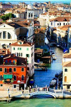 Vista de Venecia Italia