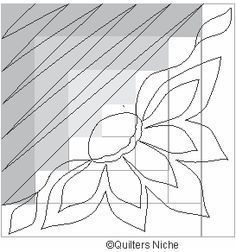 quilting design for a log cabin Hand Quilting Designs, Quilting Stencils, Quilting Templates, Longarm Quilting, Free Motion Quilting, Patchwork Quilting, Quilts, Quilt Designs, Quilting Ideas