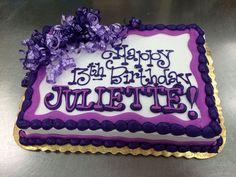 Purpley Birthday Cake by Stephanie Dillon, LS1 Hy-Vee