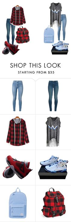 """the new style"" by dancer4life-325 ❤ liked on Polyvore featuring beauty, 7 For All Mankind, J Brand, NIKE, Herschel Supply Co. and Aéropostale"