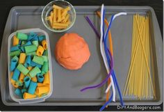 Creating an Invitation to Play: Pasta and Playdough