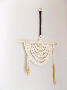 """Macrame Wall Hanging """"Energy Flow No.2"""" by Himo Art, One of a kind Handcrafted Macrame"""