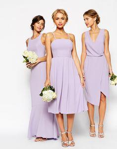 Image 4 - ASOS WEDDING - Robe mi-longue coupe bandeau