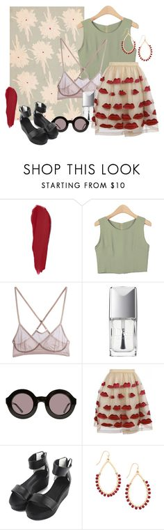 """""""Untitled #181"""" by krystelles ❤ liked on Polyvore featuring Guerlain, Christian Dior, Wildfox, Alice + Olivia and StyleNanda"""
