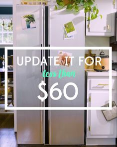 How to Update an Outdated White Fridge with Modern Stainless Steel How to Update an Outdated White Fridge with Modern Stainless Steel Real Simple realsimple Home Improvement Tips and Tricks How […] Room videos White Kitchen Appliances, Kitchen Pantry Cabinets, Kitchen White, Faux Stainless Steel Appliances, Tips And Tricks, Home Renovation, Home Remodeling, Fridge Makeover, Fridge Decor