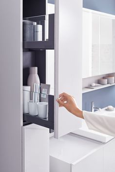 When you need a bathroom refresh, make it the perfect sensory space and add soft, calming colours and minimal, uncluttered design and plenty of bathroom storage Rv Bathroom, Bathroom Storage, Bathroom Medicine Cabinet, Curtains Or Shades, Decor Interior Design, Interior Decorating, Wooden Magazine Rack, Bathroom Furniture Design, Bidet