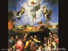 """""""The Resurrection and Asscention of Christ""""   by Rapheal     about 1518  in The Vatican, Rome, Italy."""
