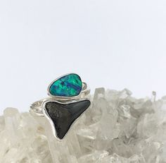 Land & Sea Ring by SaltedGems on Etsy Handmade Sterling Silver, Sterling Silver Jewelry, Crystal Meanings, Druzy Ring, Gemstones, Crystals, Rings, Stuff To Buy, Etsy