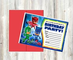 PJ Masks Birthday Party Invitations For Your Childs Big Day