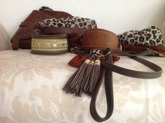 handmade brocate and leather sighthound collars