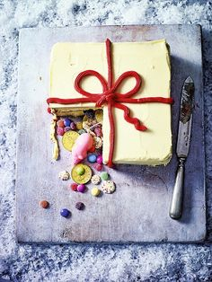 Serve the cake on the board or store in a cool, dry place for up to 3 days