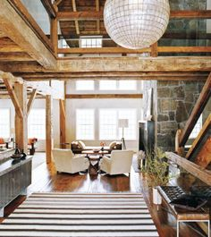 Okay…is it weird that I love a great repurposed barn? I just do. I've been...