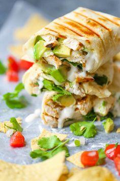 Chicken and Avocado Ranch Burritos