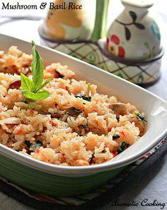 Aromatic Cooking: Mushroom And Basil Rice