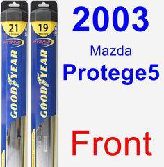 Front Wiper Blade Pack for 2003 Mazda Protege5 - Hybrid