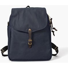 Filson Daypack Backpack - Navy ($270) ❤ liked on Polyvore featuring bags, backpacks, navy blue, lightweight laptop bag, filson rucksack, lightweight laptop backpack, padded backpack and laptop bag
