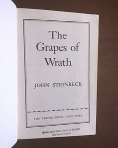Grapes of Wrath John Steinbeck Used Books by TheHollowRound