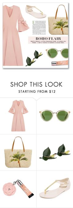 """""""Boho Flair"""" by fancy-chic ❤ liked on Polyvore featuring Roksanda, Oliver Peoples, Style & Co., Herend, Beauty Rush and Melissa"""