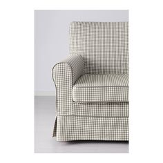 EKTORP JENNYLUND Chair - Sågmyra gray/check - IKEA