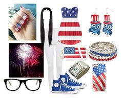 """""""i love this its 4th of july"""" by polyvorelover-01236 ❤ liked on Polyvore featuring Topshop, Converse, Chicnova Fashion, Casetify, Red Camel and Muse"""