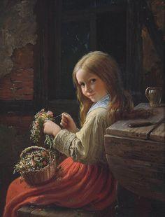 Маленькие цветочницы в живописи: 39 прекрасных портретов - Ярмарка Мастеров - ручная работа, handmade