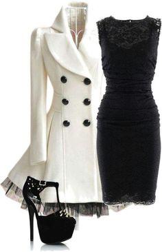 Abrigo blanco muy lindo!