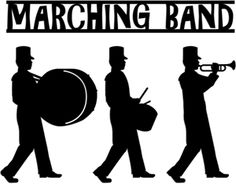 Silhouette Online Store - View Design #10308: marching band