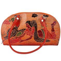 Indian Handmade Vintage Bag Genuine Leather Shantiniketan Embossed Handbag  #Handmade #ShoulderBag
