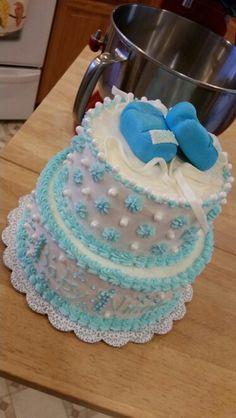 Baby Boy Boxing Gloves shower cake