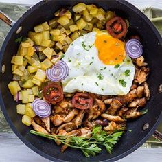 Rotisserie Chicken with Potatoes & Eggs