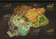 Theme Park Map, Forest Village, Presentation Styles, Forest Theme, Graduation Project, Park Art, Parking Design, Map Design, Visual Communication
