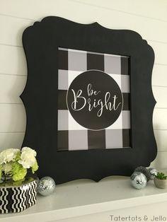 Bright Buffalo Plaid Printable
