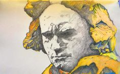 mr marian hergouth, Beethoven drawing Van, Portrait, Drawings, Artist, Painting, Canvas, Drawing S, Headshot Photography, Artists