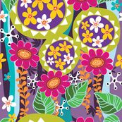 vibrant botanical fabric by yuyu for sale on Spoonflower - custom fabric, wallpaper and wall decals