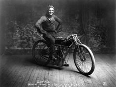 "Ray ""Kansas Cyclone"" Weishaar back in 1914. Vintage Motorcycle Racing, Board Track"