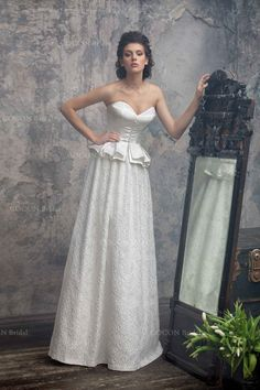 Extraordinary Wedding Dress in Vintage Style from by CoconBridal For Authentic Vintage Wedding Jewelry go to: https://www.etsy.com/shop/ButterflyEffectInc