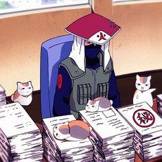 Naruto x natsume yuujinchou. Kakashi-sensei & Nyanko-sensei have the same jpn voice actor