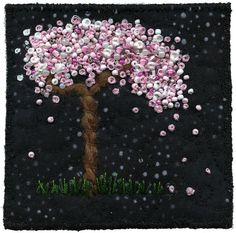 I love this bead embroidery tree.  This site has some gorgeous ideas.