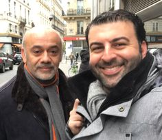 Christian Louboutin and David Serero in Paris