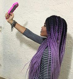 #blackgirl #afro #afropunk #josyramos #brazillian #afrogirl #cabelo #penteado #braids #negra #fashion #barbie #boxbraids #braids #beauty #purple