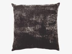 REGENCY BLACKS Silk blend 45 x 45cm black velvet cushion - HabitatUK