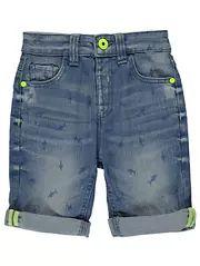 Shark Print Denim Shorts
