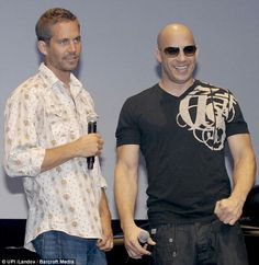 Best mates: Vin Diesel  revealed this week how he broke down upon seeing Walker's family following the actors death