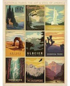 2018 calendar Art Print: Anderson Design Group's National Parks: The Art & Soul Of A